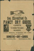 Advertisement, George Ehrenfried Co., Lewiston, ca. 1880