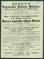 Vegetable Bilious Bitters ad, Damariscotta, 1872