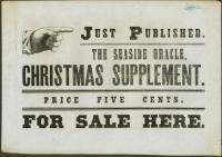 Christmas supplement announcement, Wiscasset, ca. 1872