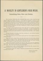 Men's neck wear 'novelty' ad, 1887