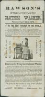 Clothes washer advertisement, Westbrook, 1873
