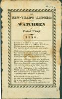 New Year's watchman's ballad, Portland, 1828