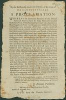 Proclamation urging resistance to British, 1779