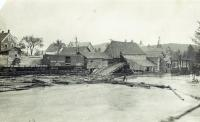 Log boom, Island Falls, ca. 1895
