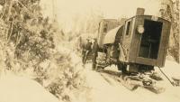 Lombard hauler, Island Falls, ca. 1905