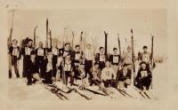 Skiers, New Sweden, ca. 1935