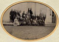 First school, New Sweden, ca. 1875