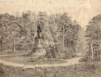 Statue sketch, Thomas Park, New Sweden