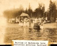 Baptism at Madawaska Lake,  ca. 1915
