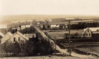 Station Road, New Sweden, ca. 1938