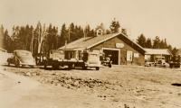 John Soderberg Garage, New Sweden, ca. 1935