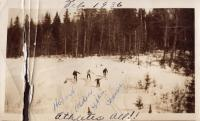 Cross-country skiing, New Sweden, 1930s