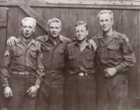 New Sweden men meet during World War II, Germany, 1945