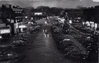 Christmas season on Market Square, Houlton, ca. 1954.