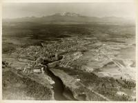 Aerial view of Millinocket and Mt. Katahdin, 1939