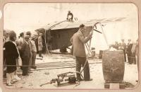 Fueling 'Yellow Bird,' Old Orchard Beach, 1929