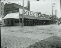 Milk Street Market, Portland, ca. 1890