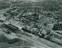 Aerial view of Portland, ca. 1950