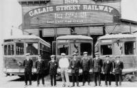 Calais Street Railway Last Day of Operation, Calais, 1929