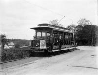 Calais Street Railway summer car, Calais, ca. 1900