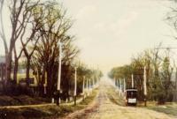 Calais Street Railway Car ascending Hinkley Hill, Calais, ca. 1900