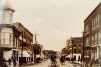 Calais Street Railway car on Main St., Calais, ca. 1900