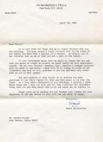 Donald Bryant retirement letter, Seal Harbor, 1983
