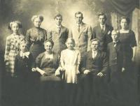 Victor Helstrom family, Perham, ca. 1922