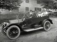 Automobile on Kimball Street, Sanford, ca. 1910