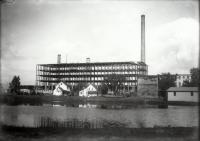 Goodall Worsted Factory Under Construction, Sanford, 1922