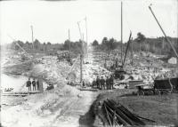 Construction of New Dam at Estes Priviledge, Sanford, 1906
