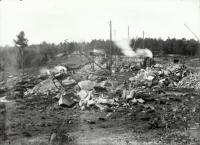 Estes Privilege dam construction, Sanford, 1906