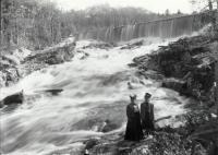 Two Ladies at Old Falls Dam, Sanford, ca. 1897