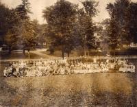 Childrens' gathering, Caribou, July, 1922
