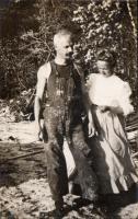 Anton and Mabel Schatzel, Otisfield, 1908