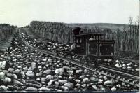 Lithograph of Green Mountain Rail Road Train
