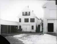 Edmund G. Murray's Livery Stable, Main Street, Springvale, ca. 1890