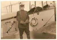 Aerial policeman, Old Orchard Beach, 1920