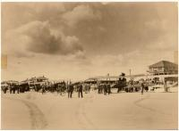 Planes taking on fuel, Old Orchard Beach, 1924