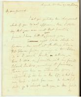 Winfield Scott letter to Gen. Henry Dearborn, 1839
