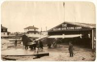 'Green Flash' trial flight, Old Orchard Beach, 1929