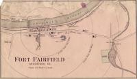 Map of Fort Fairfield, ca. 1870