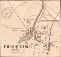 Map of Presque Isle, ca. 1870