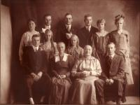 Osell Family Portrait, New Sweden, ca. 1918