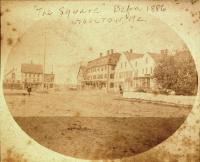 Market Square, Houlton, ca 1885