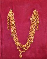 Cherry pit necklace, Island Falls, ca. 1863