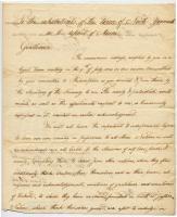 John Adams letter North Yarmouth residents, 1798