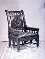 Henry Wadsworth Longfellow's chair, Cambridge, Massachusetts, ca. 1880