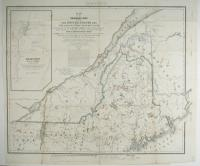 Northern Maine boundary map, 1843
