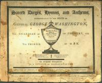 Sacred dirge in memory of Washington, 1800